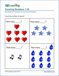 Free Preschool & Kindergarten Numbers & Counting Worksheets ...Kindergarten numbers and counting worksheet