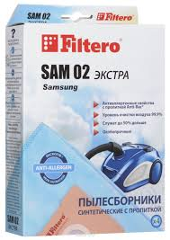 <b>Filtero SAM 02</b> Экстра <b>пылесборник</b> (4 шт) — купить в интернет ...
