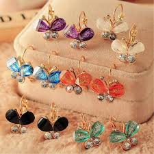 <b>New Fashion Korea Style</b> Wings Rhinestones Purple Bow Butterfly ...