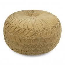 <b>pouffe velvet smock</b> gold 50x50cm
