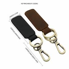<b>GENUINE LEATHER Vintage</b> Keychain Retro Fashion Cowhide ...
