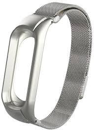 Купить <b>Ремешок</b> для Xiaomi Mi <b>Band</b> 4 <b>Metal</b> Milan Magnetic Silver ...