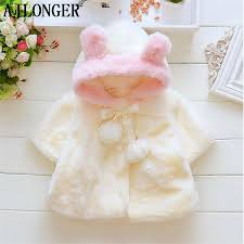 <b>AJLONGER Baby</b> Girl <b>Jacket</b> Cute <b>Coat</b> Velour Fabric Infant ...