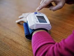 portable blood pressure meter digital arm tensiometers bp cuff wrist sphygmomanometer monitor heart rate pulse black tonometer