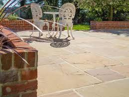 sandstone paving patio garden slabs