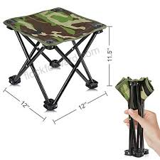 4 legs <b>portable folding camping</b> stool chair seat hiking <b>bbq</b> outdoor ...