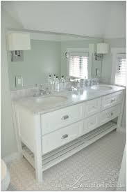barn white bath vanity bathroom newport console