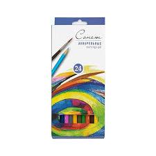 <b>цветные</b> карандаши 24 цвета <b>Акварельные</b> Сонет купить с ...