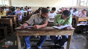 shameful cheating scandal in bihar the verdict a boy at the left corner first bench sits his legs stretched out leaning