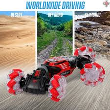 NEW RC Stunt Car 4WD <b>Watch Gesture Sensor</b> Control Deformable ...