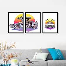 <b>Набор из 3</b> - <b>х</b> картин <b>постеров</b> Artency, DeLorean 32 х 42 см ...