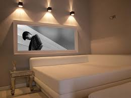 eclectic and minimal bedroom with sconce lightng ceiling wall lights bedroom