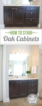 Diy Staining Kitchen Cabinets How To Stain Oak Cabinetsthe Simple Method Without Sanding