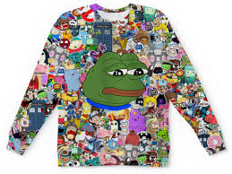 "Свитшот мужской с полной запечаткой ""<b>Pepe</b> Frog"" #2033053 от ..."