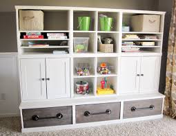 triple cubby storage base inspired by pottery barn kids cameron collection ana white build office