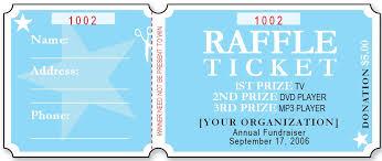 Sample Raffle Ticket Templates | Formal Word Templates Sample Raffle Ticket Templates