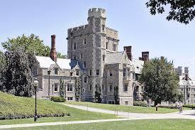 A tour group at Princeton University