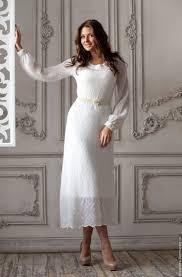 """Купить <b>Платье</b> """"Снежинка"""" - белый, однотонный, <b>мохеровое</b> ..."""