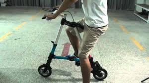 "8"" Tyre Sports Bike Foldable <b>Portable Bicycle</b> Blue - YouTube"