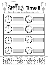 Spring Kindergarten Math Worksheets (Common Core Aligned ...Spring Kindergarten Math Worksheets (Common Core Aligned) | Telling Time, The Hours and Spring Time