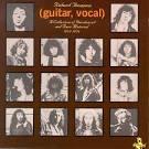 Guitar, Vocal