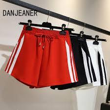 2019 <b>DANJEANER 2018</b> Summer <b>Women</b> Drawstring Sport Shorts ...
