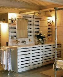 11 use wooden pallets to shape complete bathroom furniture bathroom furniture pallets