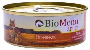 Корм для кошек <b>BioMenu Adult консервы</b> для кошек с ягненком ...