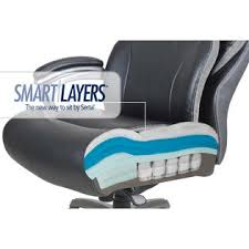 serta at home big tall smart layers premium elite executive chair with air in bliss big office chairs big tall