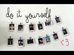 DIY <b>Hanging Picture</b> Display - YouTube