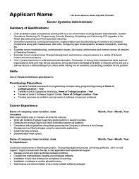 sample under graduates resume template sccm administrator resume    university administrator resume federal federal
