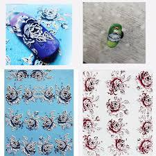 3D Acrylic Engraved flower <b>Nail</b> Sticker pretty <b>girl Rose</b> flower bird ...