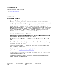 asp net resume years cipanewsletter cover letter experienced it professional resume samples