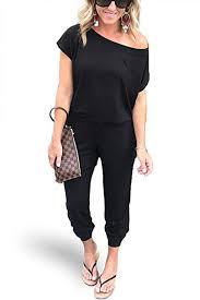 Ueither <b>Women's Sexy Off Shoulder</b> Elastic Waist Short Sleeve ...