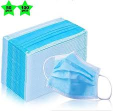 <b>100pcs Disposable NonWoven</b> Three-Layer Filter Anti-Dust Mouth ...