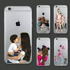 <b>Cute Cartoon</b> Baby Mom Girl Queen Soft Case For iPhone 11 Pro ...