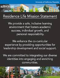 residence life mission statement rha