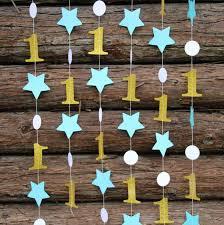 (2 нитей/лота) Синий День Рождения Декор, Золото <b>Гирлянды</b> ...