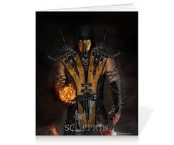 """Тетрадь на клею """"Mortal Kombat (Scorpion)"""" #2493842 от Аня ..."""