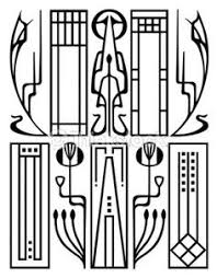 art deco ornamental flower pattern clean lines in this deco vector art piece art deco furniture lines