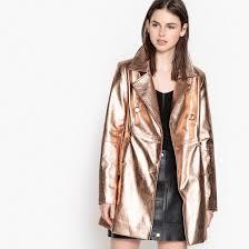<b>Пальто</b> из искусственной кожи розовый золотистый <b>La Redoute</b> ...