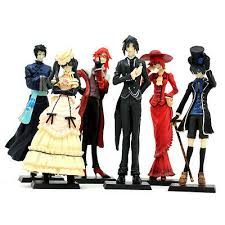 HOT <b>Anime Kuroshitsuji Black Butler</b> Set 6x Characters Action ...