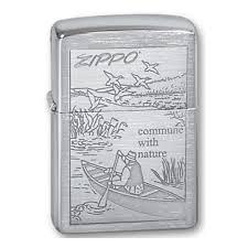 <b>Зажигалка</b> ZIPPO <b>Row Boat</b> Brushed Chrome, серебристый ...
