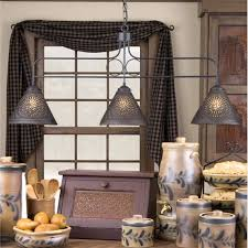 primitive large franklin hanging light with chisel design is handcrafted in pennsylvania by irvins country tinware comes direct wired with three standard amish country kitchen light