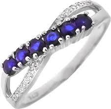 Серебряное <b>кольцо Sandara ANR2424</b> с фианитами, сапфирами ...
