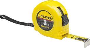 <b>Рулетка</b> stayer master maxtape, пластиковый корпус, <b>5м</b>/19мм ...