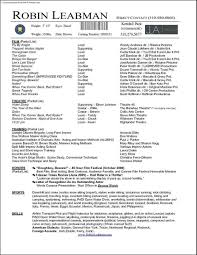 acting resume template word samples examples format acting resume template word