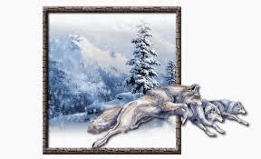 """Résultat de recherche d'images pour """"gifs loups dans la neige"""""""