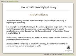 how to write an analytical essay   essay examples