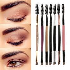 <b>2019 fashion</b> new Duo Brow makeup brush wooden handle <b>double</b> ...